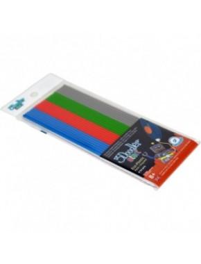 Набор стержней для 3D-ручки - МИКС (24 шт: серый, голубой, зеленый, красный)