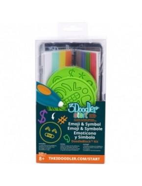 Набор аксессуаров для 3D-ручки - ЭМОДЖИ (48 стержней, 2 шаблона)