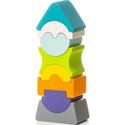 Деревянная игрушка Cubika Пирамидка LD-7 (12701)