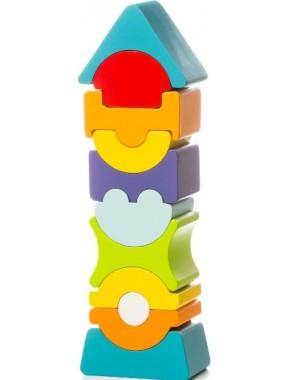 Деревянная игрушка Cubika Пирамидка LD-9 (12862)