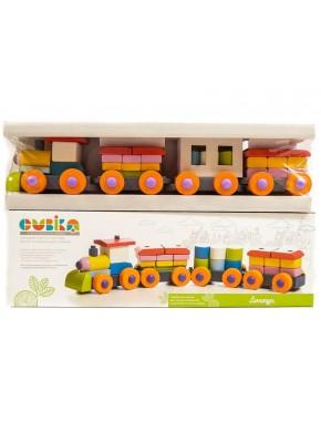 Деревянная игрушка Cubika Поезд LP-1 (11681)