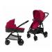 Универсальная коляска 2в1 Cybex CBX Leotie Pure Crunchy Red, красный с черным (518001661)