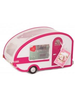 Транспорт для кукол Кемпер на колесах  Lori, белый с розовым (LO37011Z)