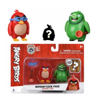 Набор фигурок Jazwares Angry Birds ANB Mission Flock Ред и Леонард (ANB0010)