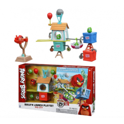 Игровой набор Jazwares Angry Birds ANB Medium Playset Pig City Build 'n Launch Playset (ANB0015)