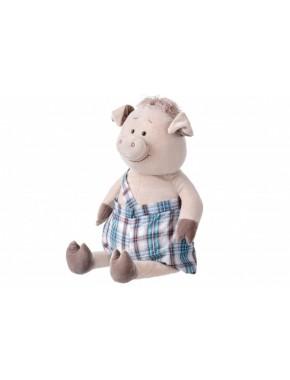 Мягкая игрушка Same Toy Свинка в комбинезоне, 60 см (THT705)