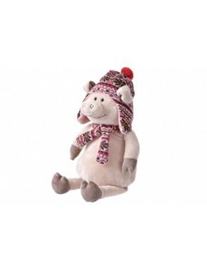 Мягкая игрушка Same Toy Свинка в шапке, 45 см (THT719)