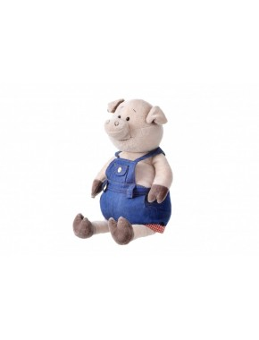 Мягкая игрушка Same Toy Свинка в джинсовом комбинезоне, 45 см (THT711)