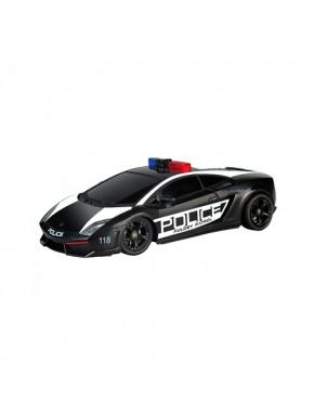 Автомобиль радиоуправляемый -LAMBORGHINI - LP560-4 GALLARDO POLICE (черный, 1:28, свет мигалки) LC296840