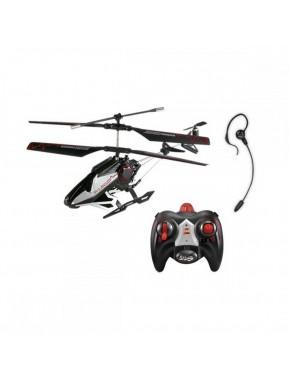 Вертолет на ИК управлении c голосовыми командами-VOICE CONTROL(черн.,22см,3-кан.,гироскоп,гарнитура) YW860010-0
