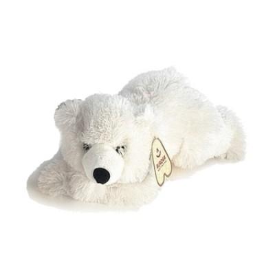 Ведмедик Aurora білий лежачий 32 см