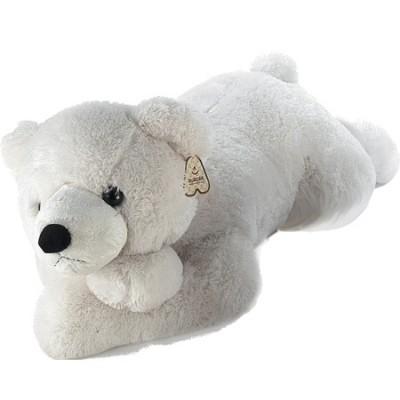 Ведмедик Aurora білий лежачий 70 см