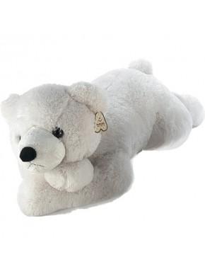 Ведмедик Aurora білий лежачий 100 см