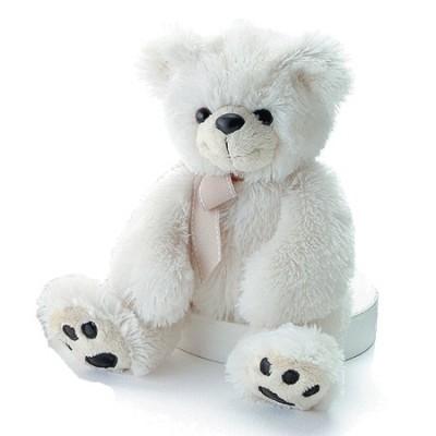 Ведмедик Aurora білий 37 см