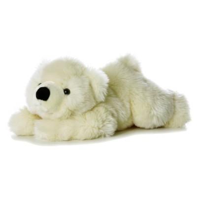 Ведмедик Aurora кремовий лежачий 30 см