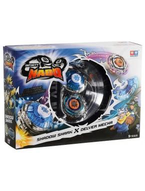 Бейблейды Nado Infinity - Сплит Shadow Shark и Delver Mecha с устройством старта (YW624602)