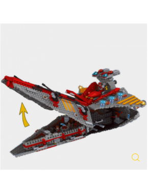 Конструктор Keedo Космический корабль 1472 детали (25113)