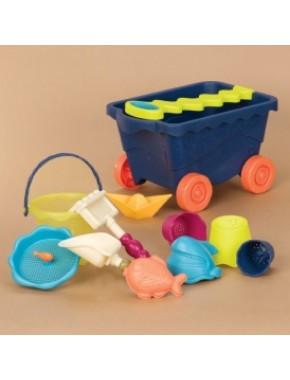 Набор для игры с песком и водой - ТЕЛЕЖКА ОКЕАН (11 предметов)