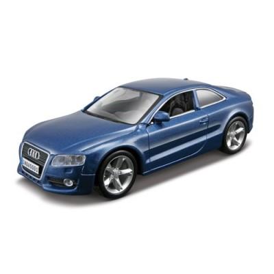 Автомодель - AUDI A5 белый и синий металлик (18-43008)