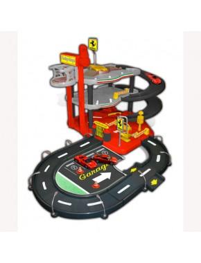 Игровой набор - ГАРАЖ FERRARI (3 уровня, 2 машинки)