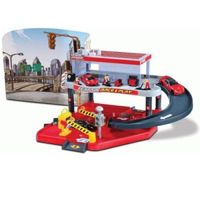 Игровой набор Bburago Гараж Ferrari, 2 уровня (1:43) (18-31231)