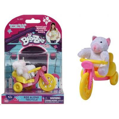 Котенок Kaly на велосипеде BeanZees, 5см