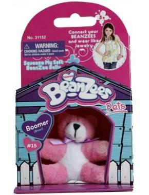 Мягкая игрушка BeanZees Медвежонок розовый 5 см