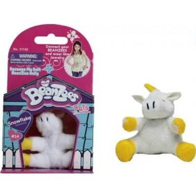 Мягкая игрушка BeanZees Единорог белый 5 см