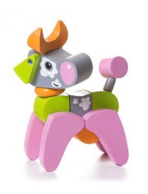 Деревянная игрушка Cubika Коровка акробат LA-4 (12442)