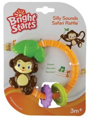 Музыкальная игрушка-погремушка Bright Starts Обезьянка (9206)