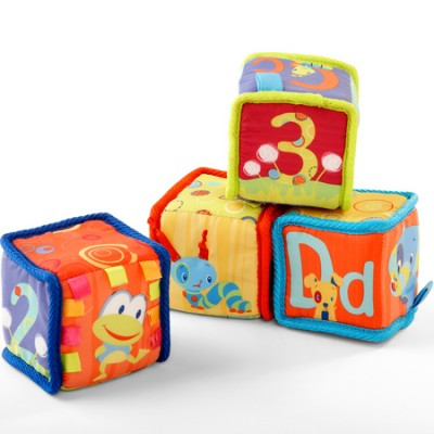 М'які кубики Bright Starts Grab & Stack Blocks