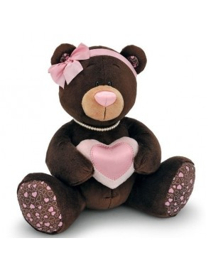 Мягкая игрушка Orange  Медведь девочка Milk с сердцем 30см (M003/30)