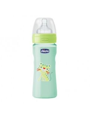 Бутылочка пластик Well-Being, 250 мл, соска силикон, 2m+
