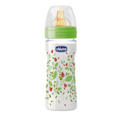 Бутылочка пластик Well-Being, 250мл, соска латекс, 2m+