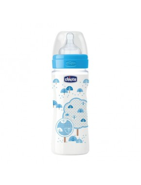 Бутылочка пластик Well-Being, 330 мл, соска силикон, 4m+