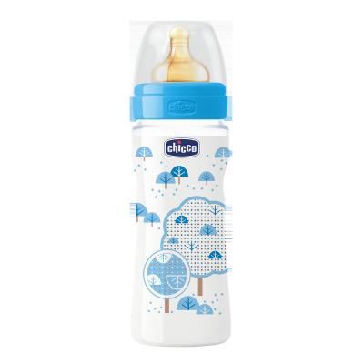 Бутылочка пластик Well-Being, 330мл, соска латекс, 4m+