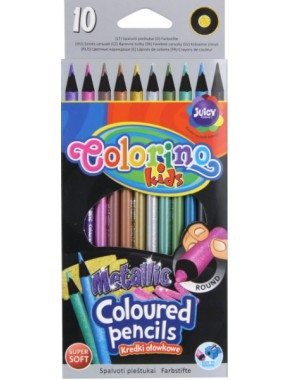 Карандаши цветные Colorino металлик 10 цветов