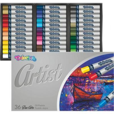 Пастель масляная, круглая, premium, серия Artist, в пластиковом контейнере, 36 цветов