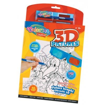 Набор 3D раскраски (24 шт.)   3D-очки