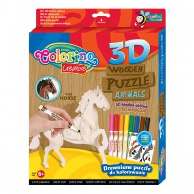 """Дерявянные пазлы  3D """"Лошадь"""""""