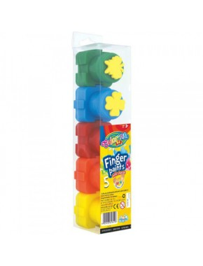 Пальчиковые краски - пазлы, со штампом, 5 цветов