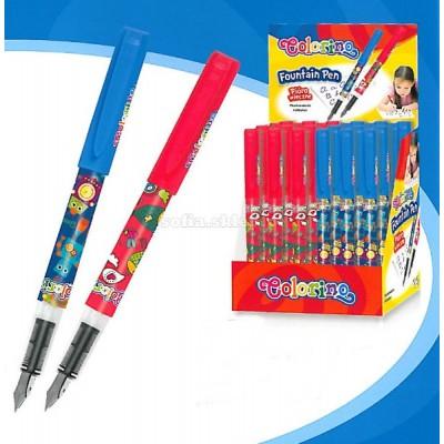 Ручка перьевая , цвет красный или синий
