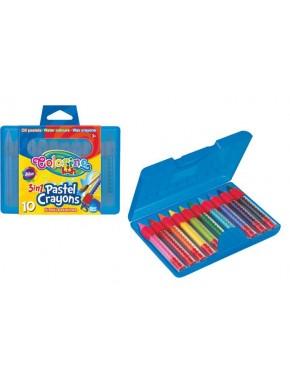 Набор 3в1, карандаши в пластиковом контейнере