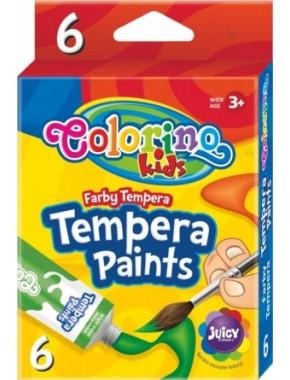 Краски темперные, 6 цветов, стандартные цвета, 12 мл