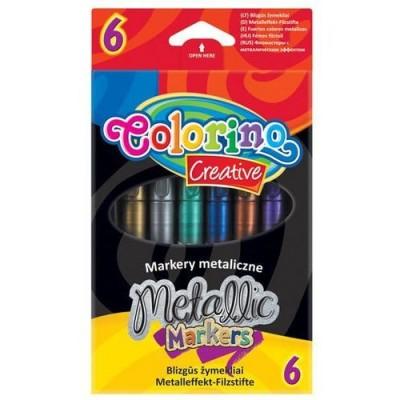 Маркеры 'Metallic', метализированные перламутровые чернила, 6 цветов