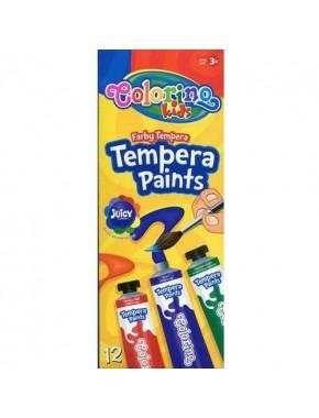 Краски темперные, 12 цветов, стандартные цвета, 12 мл
