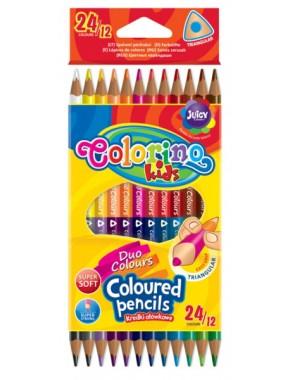 Карандаши цветные   точилка, в пластиковом контейнере, 18 цветов