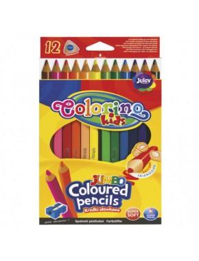 """Карандаши цветные в пластиковом контейнере, трехгранные """" Jumbo"""" ,12 цветов"""