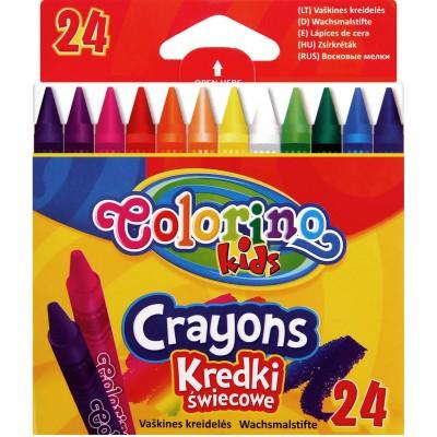 Восковые мелки, 24 цвета