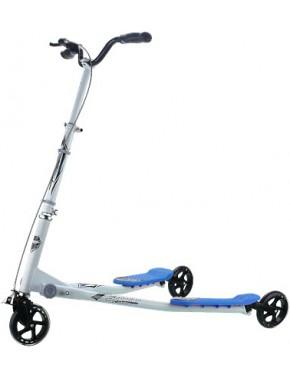 Самокат трехколесный GO Travel Speeder Большой Серебристо-голубой